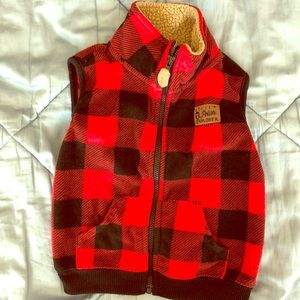 Cute little plaid jacket vest